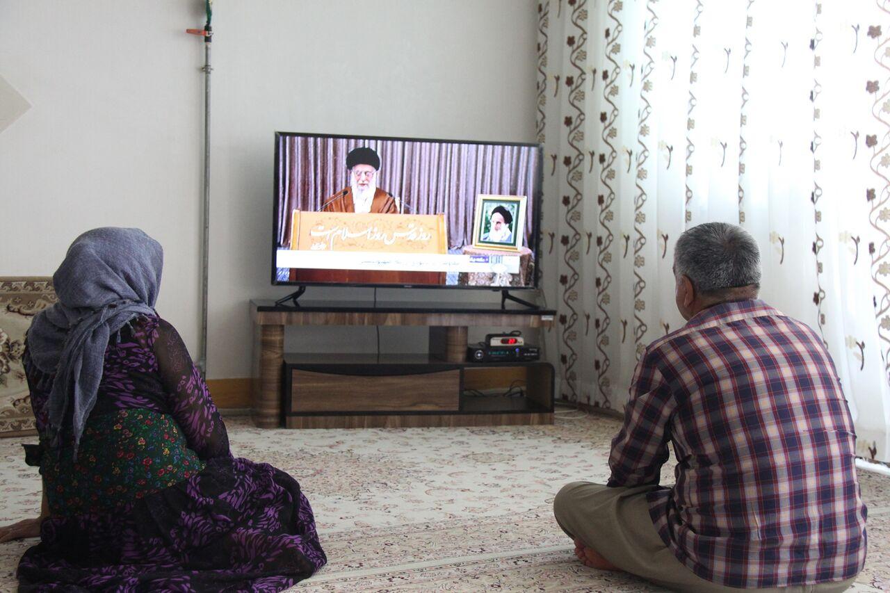 توجه مردم به سخنرانی مقام معظم رهبری در روز قدس
