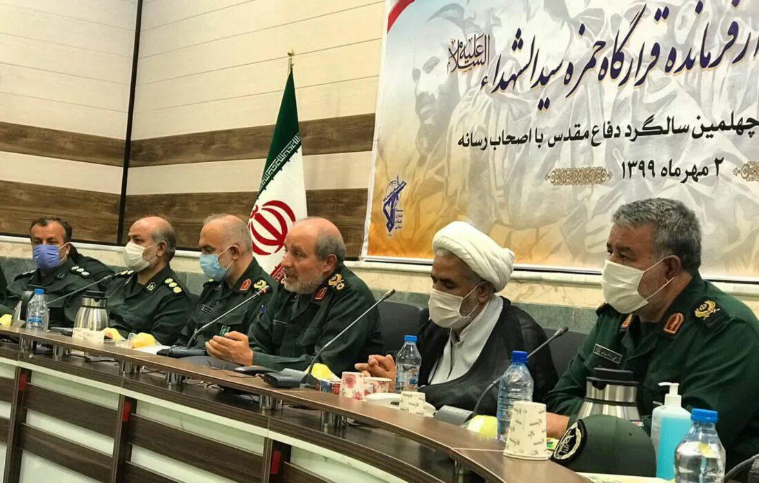 نشست صمیمی فرمانده قرارگاه حمزه سیدالشهدا(ع) با اصحاب رسانه به مناسبت چهلمین سالگرد دفاع مقدس