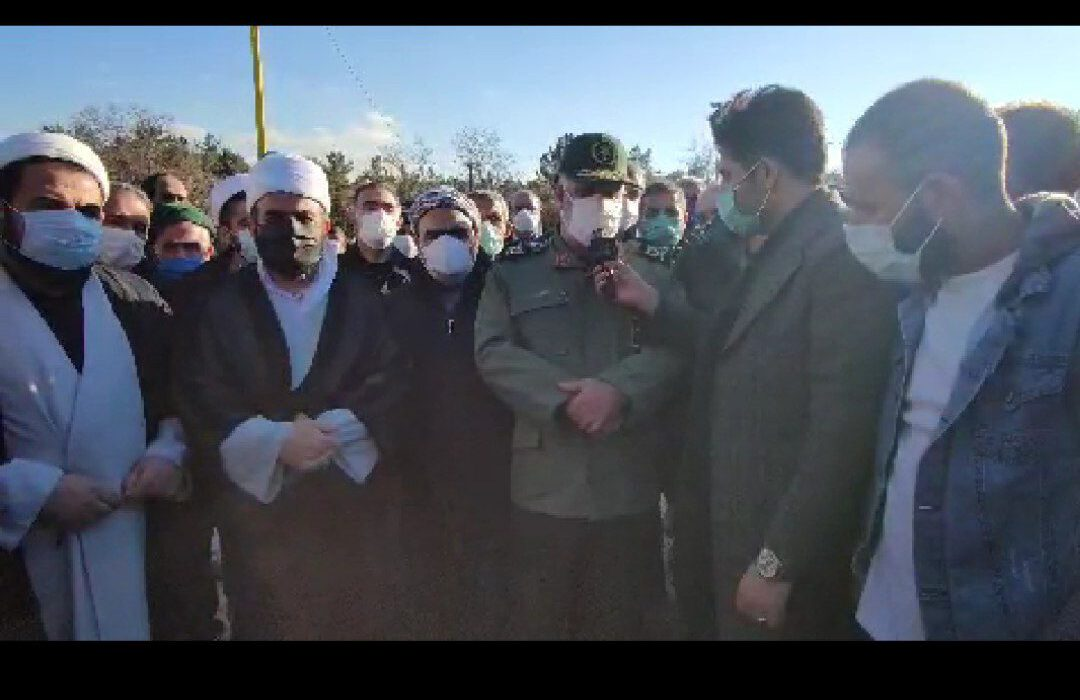 #اختصاصی   بیانات سردار آبروشن فرمانده لشکر عملیاتی ۳ حمزه علیه السلام در تشییع پیکر شهید حاج مصطفی سلطانی