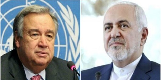 ظریف در نامه ای به گوترش: خرابکاری رژیم صهیونیستی در نطنز تروریسم هسته ای و جنایت جنگی است