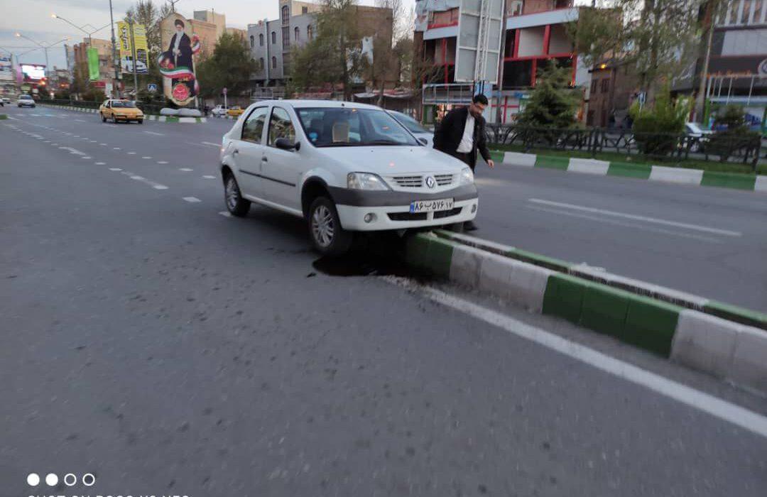 تصادف در خیابان عطایی