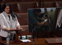 اشکهای نماینده چفیهپوش کنگره آمریکا برای مردم فلسطین/ عکس