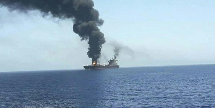 هدف قرار گرفتن کشتی متعلق به رژیمصهیونیستی در شمال اقیانوس هند