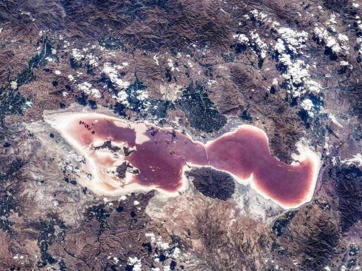 تصویر ایستگاه فضایی چین از فاجعه سدسازی برای دریاچه ارومیه